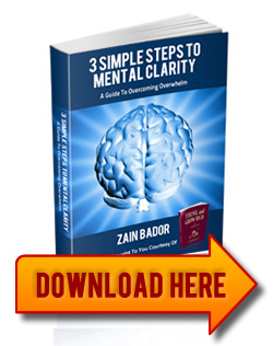 Download 3 Simple Steps to Mental Clarity, using the form!