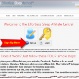 Sign-up as an Effortless Sleep Affiliate